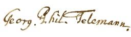 Telemann Unterschrift 01